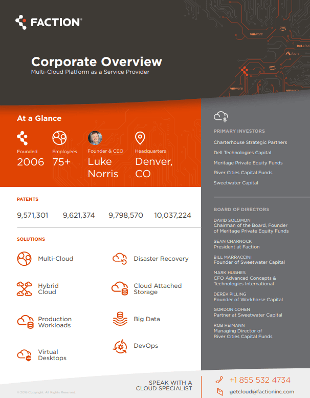 Faction Corporate Overview